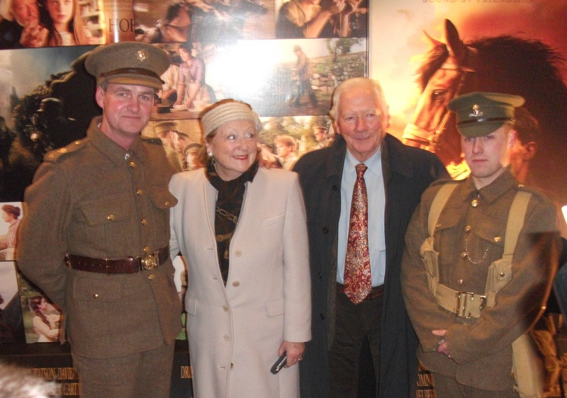The lads with Gay Byrne and his wife Ms Kathleen Watkins