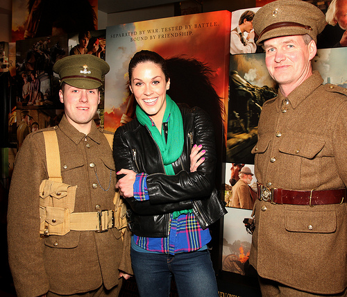 The (lucky) lads with Glenda Gilson